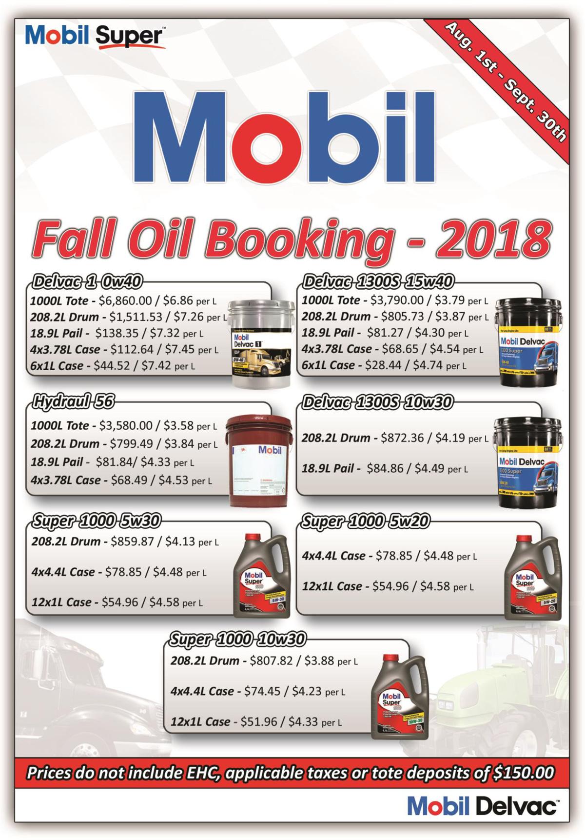 2018 Fall Oil Sale