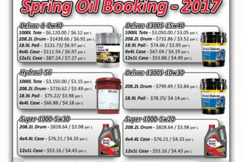 Mobil Oil – Spring Oil Booking 2017